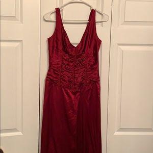 Silk Tahari Red Gown